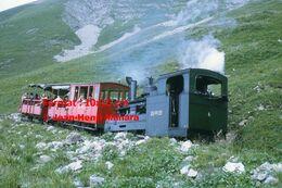 Reproduction D'unePhotographie D'un Train à Crémaillère BRB 4 Brienz Rothorn Bahn En Montagne En Suisse En 1972 - Riproduzioni