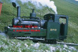 Reproduction Photographie D'une Locomotive à Vapeur à Crémaillère BRB 4 Brienz Rothorn Bahn En Montagne En Suisse 1972 - Riproduzioni