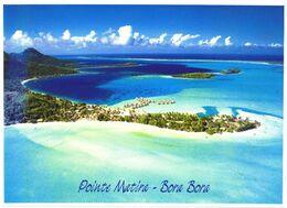 Bora Bora Island:Birds Eye View Of Matira Cape - Französisch-Polynesien