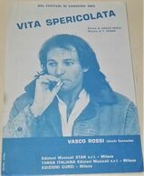 Antigua Partitura, Vita Spericolata; Vasco Rossi - Dal Festival Di Sanremo 1983 - Musique & Instruments