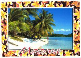 Moorea Island:White Sand Beach Next To Les Tipaniers Hotel - Französisch-Polynesien