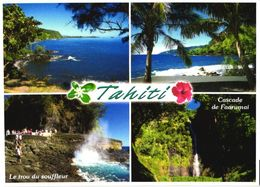 Tahiti Island East Coast Views, Waterfall - Tahiti