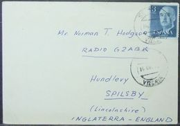 Spain - Card To England 1962 Radio - 1931-Heute: 2. Rep. - ... Juan Carlos I