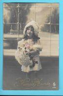 FANTAISIE---BONNE ANNEE-----( Fillette + Fleurs )---voir 2 Scans - Neujahr