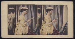 Carte Stéréoscopique - Recto Et Verso - Foire Aux Boeufs / Jeune Fille (septembre 1916) - Cartes Stéréoscopiques