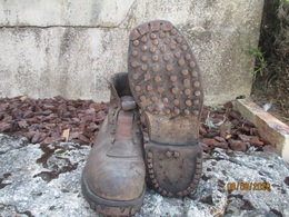 Brodequin Rangers Botte Chaussure Clous Ww1 Ww2 France Allemand Montagne 30CM - 1939-45