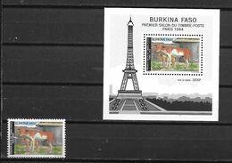 BURKINA FASO POSTE 896 + BLOC 47 SALON TIMBRE  MNH NEUF SANS CHARNIERE - Burkina Faso (1984-...)