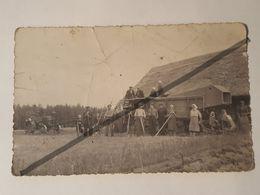 Photo Vintage. Original. Agriculture. Machine à Vapeur. Tracteur. Lettonie D'avant-guerre - Métiers