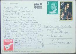 Spain - Postcard To England 1983 Painting El Greco - 1931-Hoy: 2ª República - ... Juan Carlos I