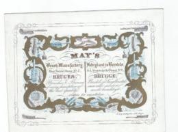 1 Carte Porcelaine   Fabrikant In Borstels  MAY'S  O.L.vrouwekerkestr  BRUGGE  Litho. Delay- Demuyttere - Ansichtskarten