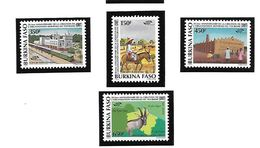 BURKINA FASO POSTE 917/920 TOURISME MNH NEUF SANS CHARNIERE - Burkina Faso (1984-...)