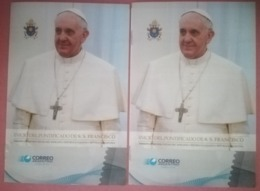 ARGENTINA - N° 2 BOOKLET / FOLDER NEW AND FDC - INICIO DEL PONTIFICADO DE S.S. FRANCISCO - JOINT ISSUE - Booklets