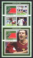 Guinea - Bissau 2003 Football Soccer European Championship Sheetlet + S/s MNH - Europei Di Calcio (UEFA)