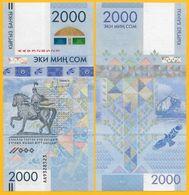 Kyrgyzstan 2000 Som P-33 2017 Commemorative UNC Banknote - Kirgizïe