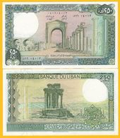 Lebanon 250 Lira P-67c 1985 UNC Banknote - Libanon