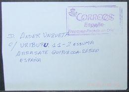 Spain - Meter Cover Franqueo Pagado En Oficina - 2011-... Lettres