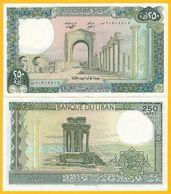 Lebanon 250 Lira P-67e 1987 UNC Banknote - Libanon