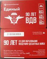 Russia 2020 1 Ticket Metro Bus Tram Trolleybus 90 Years Of Russian Airborne Troops - Métro