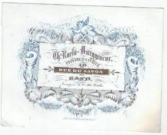 1 Carte Porcelaine  Peintre & Vitrier  Ch.Raets - Burggraeve Rue Du Savon Gand  Litho. Hemelsoet  Afm.13 X 10cm  Ca 1850 - Ansichtskarten