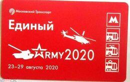 "Russia 2020 1 Ticket Metro Bus Tram Trolleybus International Forum And Exhibition ""Army 2020"" - Métro"