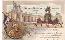 222/ Oude Litho, Georg Steinberg, Berlin C., Tuch, 1901, National Denkmal , Reclame - Ohne Zuordnung