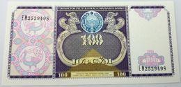 Billete Uzbekistan. 1994. 100 Sum. SC. Sin Circular. Posibilidad De Números Correlativos, Billete Sacado De Un Taco - Uzbekistán