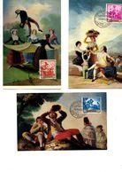 3 Tarjetas Maximas De Goya - Tarjetas Máxima