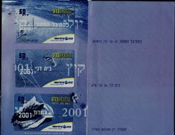 ISRAEL 2001 BEZEQ INTERNATIONAL PRIVATE PHONECARD THE  CONVENTION OF THE ISRAEL TELECARD COLLECTORS SOCIETY  MINT VF!! - Israele