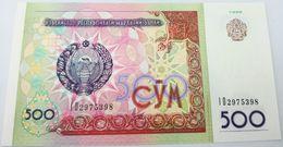 Billete Uzbekistan. 1999. 500 Sum. SC. Sin Circular. Posibilidad De Números Correlativos, Billete Sacado De Un Taco - Uzbekistán