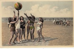 Bikini Girls On Beach , De Panne, 1954 ; Belgium - Pin-Ups