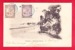 E-Madagascar-66A30  TAMATAVE, Le Boulevard Gallieni, Voir Oblitération, Cpa Précurseur BE - Madagascar