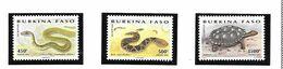 BURKINA FASO POSTE 962/964 SERPENTS   MNH NEUF SANS CHARNIERE - Burkina Faso (1984-...)