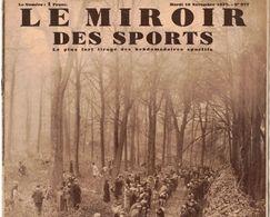 LE MIROIR DES SPORTS 977 1937 CLAMART VERBERIE SENLIS CHAPELLE EN SERVAL TRIPORTEURS PARIS AVIATION MESSERSCHMIDT YTRAC - Libri, Riviste, Fumetti