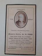 Faire Part Deces Henri De St Pern Chanoine De Paris, Reims, Tarbes Décédé à St Enogat Ile Et Vilaine - Décès