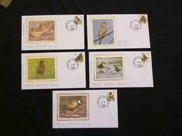 """BELG.1992 2457 2458 2459 2460 & 2461 FDC's Zijde/soie : """" Buzin """" - 1985-.. Birds (Buzin)"""