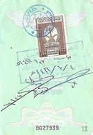 SAUDI ARABIA  100 RIYALS RESIDENTIAL VISA STAMP USED ON PAKISTAN PASSPORT PAGE, - Arabia Saudita