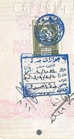 SAUDI ARABIA  100 RIYALS  FINAL EXIT  VISA STAMP USED ON PAKISTAN PASSPORT PAGE, - Arabia Saudita