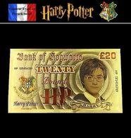 1 Billet Plaqué OR + 1 Certificat ! ( GOLD Plated Banknote ) - Harry Potter - Specimen