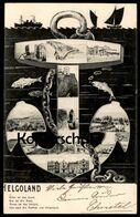 ALTE POSTKARTE HELGOLAND ANKER FISCHE KETTE GRÜN IST DAS LAND ROT IST DIE KANT Cpa Postcard Ansichtskarte AK - Helgoland