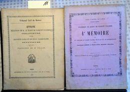 BOTHEY- Gembloux : Succession Du Baron De Pasquet D'Acosse (Paul De Barchifontaine) Bothey (1873-1876). Il S'agit D'un P - Cultura