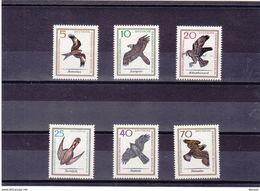 RDA 1965  OISEAUX DE PROIE Yvert 846-851 NEUF** MNH - DDR
