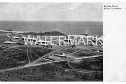 SOUTH ASCENSION ISLAND GEORGE TOWN ST HELENA OLD B/W POSTCARD BRITISH OVERSEAS TERRITORY OFF AFRICA - Ansichtskarten