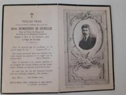 1918 Hervé Demazieres De Sechelles Ex Soldat Du 124 Ri Décédé Le 26 Novembre 1918 - Décès