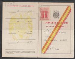 Madrid, Carte D'Identité, Carnet De Identidad, 1945, Espagne. - Historical Documents