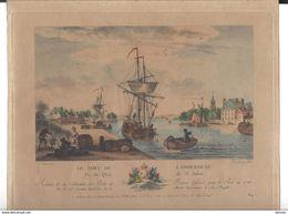 Landerneau Gravure Originale 1776 Ozanne ( Format Hors Tout 23 X 28 Cm - Prints & Engravings
