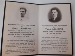 Paul Lemiere Lieutenant 23 Regiment D'infanterie Coloniale , Décoré Medaille Coloniale . Décédé 1930 - Obituary Notices