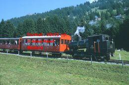 Reproduction D'unePhotographie D'un Train à Vapeur VRB à Crémaillère à Rigi En Suisse En 1972 - Riproduzioni