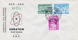 FDC 1195 à 1197 Mol Euratom - FDC