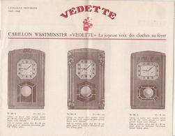 Au Plus Rapide Catalogue Pendule Carillon Vedette Année1947-1948 - Advertising