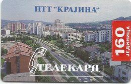 Bosnia (Serb Republic) 1996. Chip Card 160 UNITS Tirage 12.400 - Bosnie